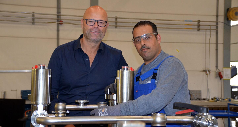 Michiel Werner en Hussam Al Ahmad